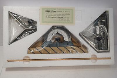 New Mitutoyo 300mm 4pc Combination Square Set. 180-810. Made In Japan