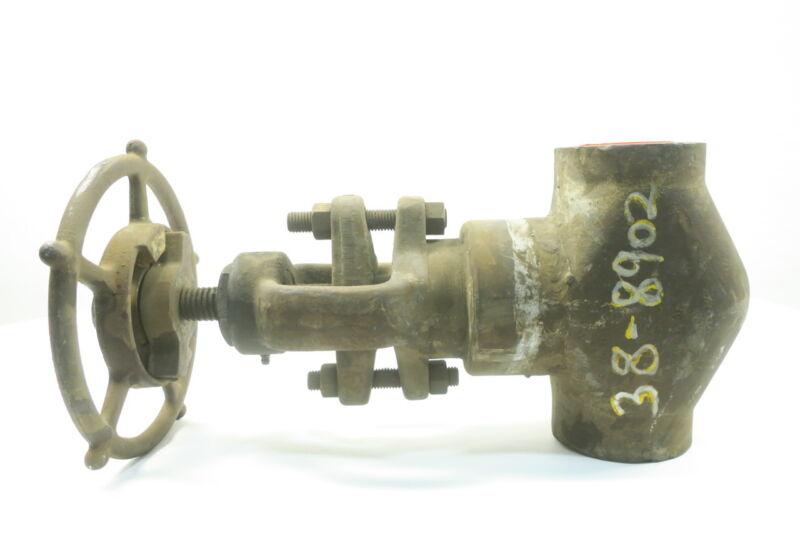 Henry Vogt SW-6733 Steel Socket Weld 2in 1700 Globe Valve