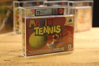 Mario Tennis P75 Brand New VGA Wata Nes Nintendo Player1grading Nintendo 64 N64