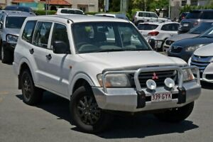 2002 Mitsubishi Pajero NP GLX White 5 Speed Manual Wagon Nundah Brisbane North East Preview