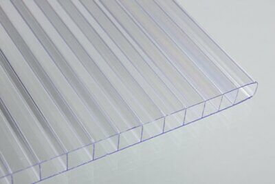 Pack Of 2 - Twinwall Polycarbonate Sheet Clear 6mm - 14 X 24 X 48