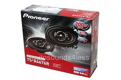 "Pioneer TS-A4676R 200 Watts 4"" x 6"" 3-Way Coaxial Car Audio Speakers 4""x6"" New"