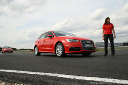 Dynamikparcours im Audi Driving Center