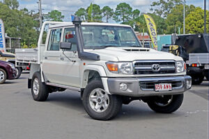2020 Toyota Landcruiser VDJ79R GXL Double Cab White 5 Speed Manual Cab Chassis