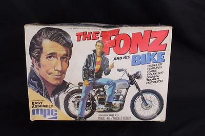 Vintage 1976 MPC The Fonz & His Bike Motorcycle Model Kit w/Box & Instructions