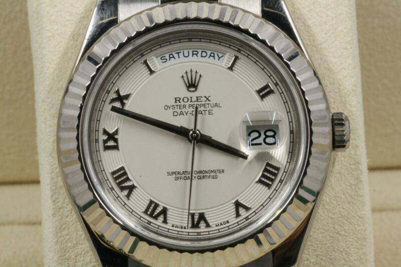 Rolex 41mm Day-date President 218239 Ivory Concentric Roman Dial 2011 Model