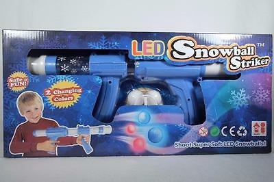 LED Snowball Striker-Pump Action Launch up to 16' LED Soft Indoors New In Pkg.](Indoor Snowball)