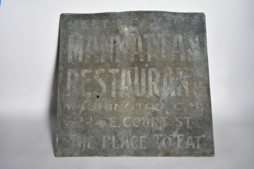 Manhattan Restaurant Ghost Sign Antique Advertising Washington Court House Ohio