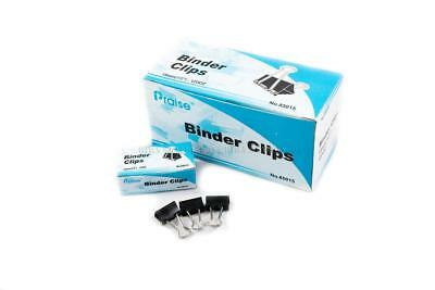 72 Pcs 15mm 58 Binder Clips Small Size Full Metal Paper Binding Office 6 Doz