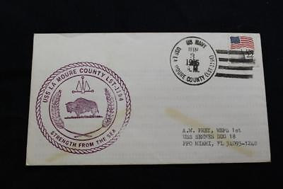 Sticker Military USN U S Navy USS LA MOURE COUNTY LST 1194 Oval Decal