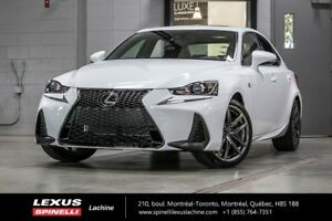 2018 Lexus IS 350 F SPORT III AWD; CUIR TOIT GPS AUDIO LSS+