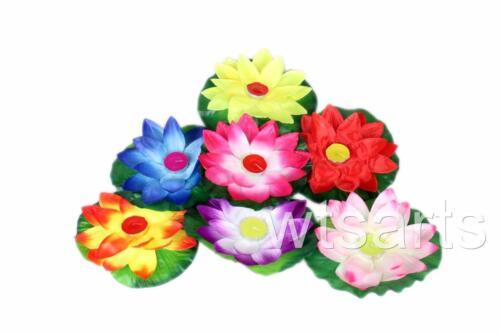 Schwimmende Lotos Kerze, Blumenmuster Tee Lichter