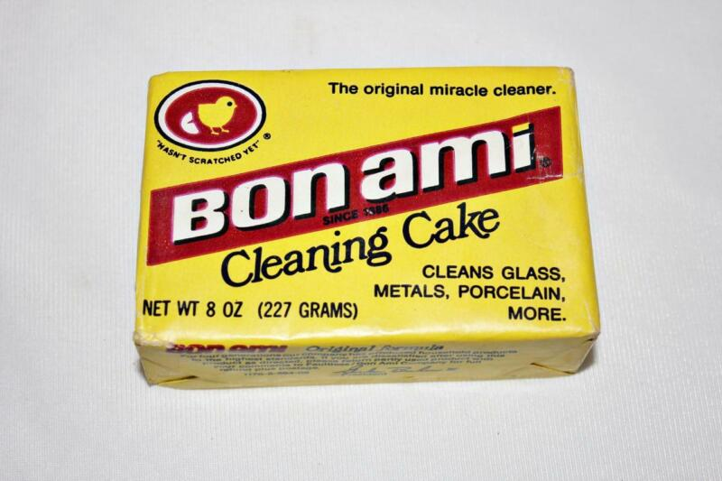 Vintage Bon Ami Cleaning Cake 8 oz NOS Discontinued SEALED All Natural Bar