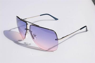 New Celebrity Aviator Sunglasses Purple Pink Gradient lens Oceanic metal (Pink Gradient)