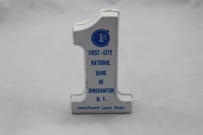 Vintage 1964 1st First National Bank of Binghamton N.Y. Piggy Plastic Savings