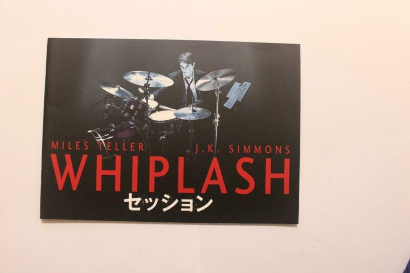 a2425 Whiplash 2014 Japan Movie Program Japanese Book J.K. Simmons