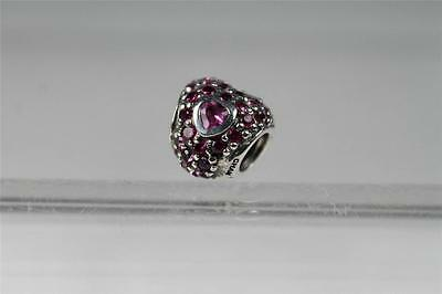 Chamilia 'Jeweled Heart In Heart' Red & Pink Swarovski - Silver  #2025-0674  - Pink Jeweled Heart