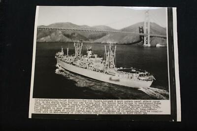 USS TULARE  AKA-112  VIETNAM VINYL /& SILKSCREEN NAVY ANCHOR SHIRT//SWEAT