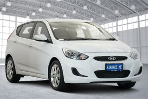2019 Hyundai Accent RB6 MY19 Sport White 6 Speed Sports Automatic Hatchback Victoria Park Victoria Park Area Preview
