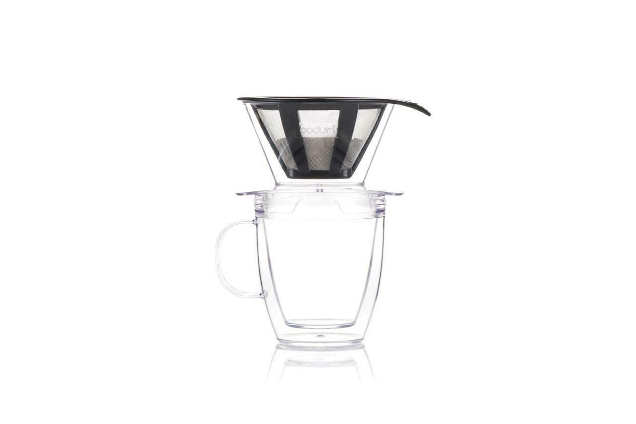 Bodum Pour Over Coffee Dripper Set w/ Double Wall Mug and Pe