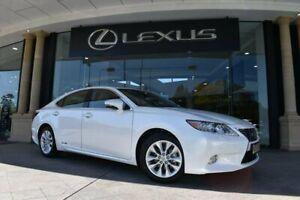 2013 Lexus ES AVV60R ES300h Sports Luxury White 1 Speed Constant Variable Sedan Hybrid