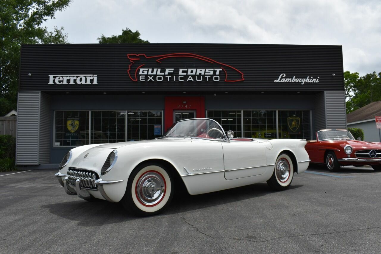 1954 White Chevrolet Corvette   | C1 Corvette Photo 2