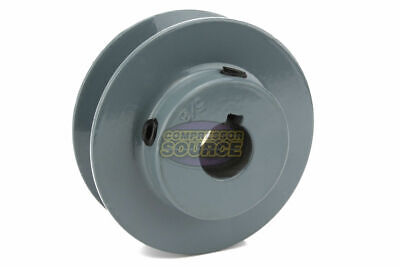2.75 Cast Iron 58 Shaft Pulley Sheave Single 1 Groove V Style A Belt 4l New