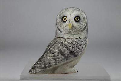 Owl Pot Belly - Harmony Kingdom / Ball Pot Bellys / Belly 'Great Gray' Owl #PBZOW14  New In Box