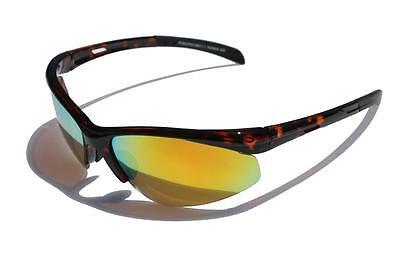 Ligero Carey Gafas de Sol Polarizadas Naranja Fuego Lente Espejo Ciclismo Peces