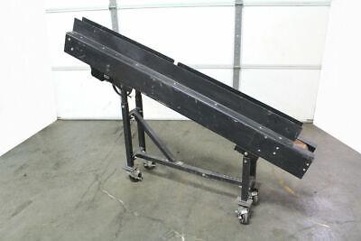 Laros Incline Belt Conveyor 4 Wide X 6 Long Bodine Gearmotor 230v 12hp