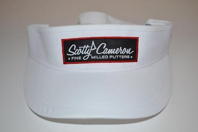 Scotty Cameron White Masters Release  Pinflag Logo  Titleist Golf  Visor Hat Scotty Golf Visor