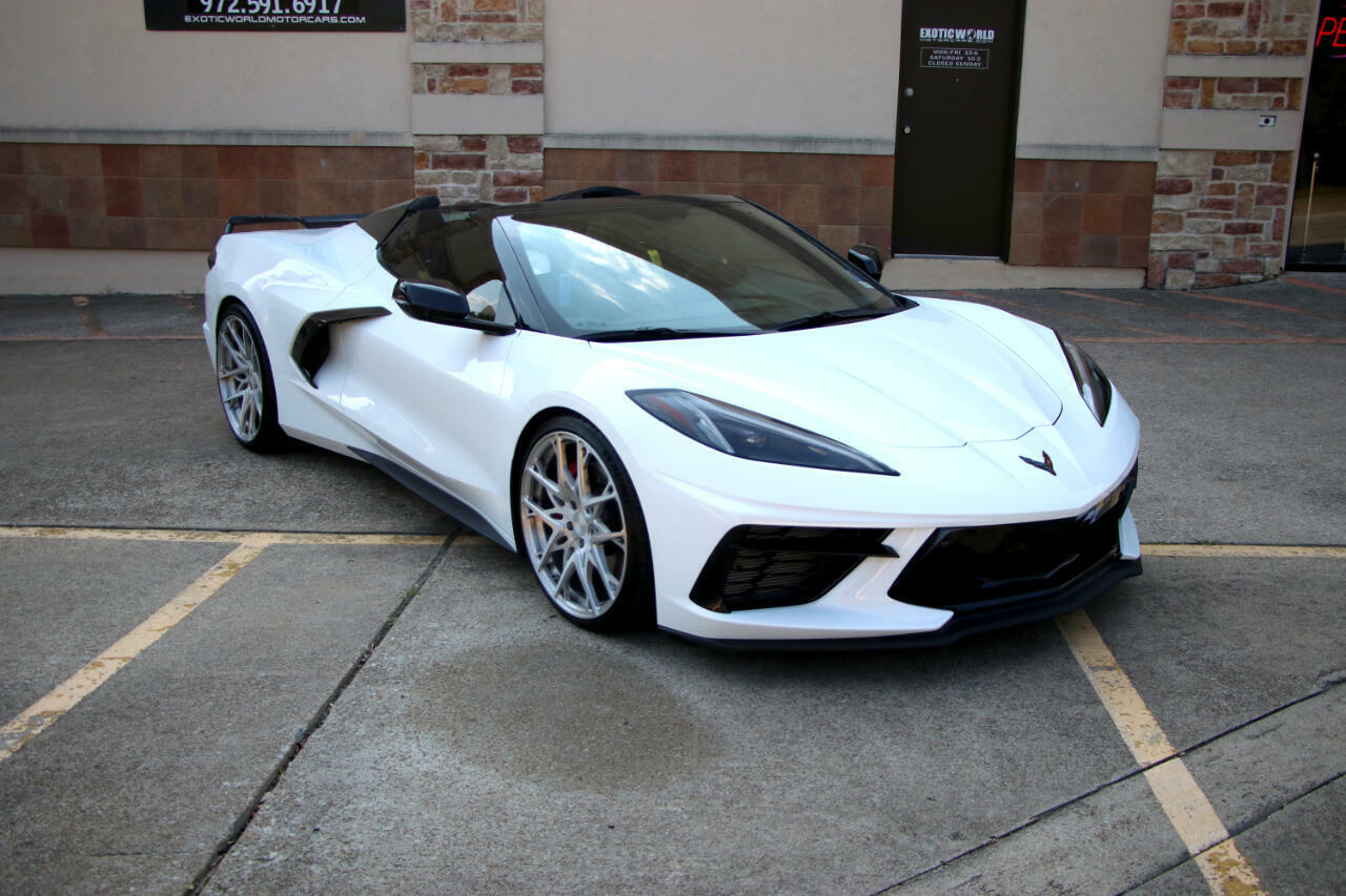 2021 White Chevrolet Corvette Convertible 3LT   C7 Corvette Photo 8