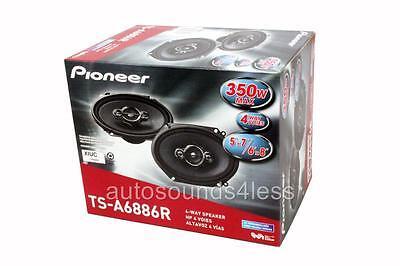 "Pioneer TS-A6886R 350 Watt 6"" x 8"" 4-Way Coaxial Car Audio Speaker 6x8"" 5"" x 7"""