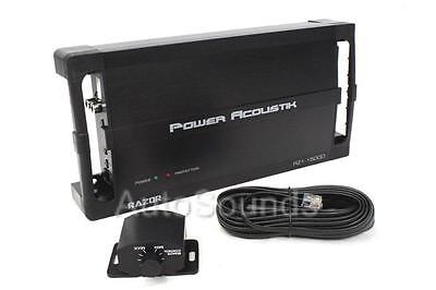 Power Acoustik RZ1-1500D 1500 Watt Monoblock Class D Car Subwoofer Amplifier New