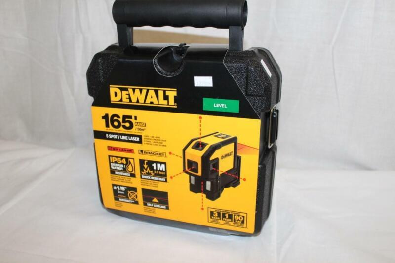DeWalt DW0851 165 ft. Red Self-Leveling 5-Spot & Horizontal Line Laser Level NEW