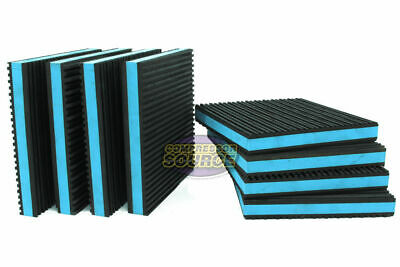 8 Pack Anti Vibration Pads Isolation Dampener Industrial Heavy Duty 6x6x78 Blue