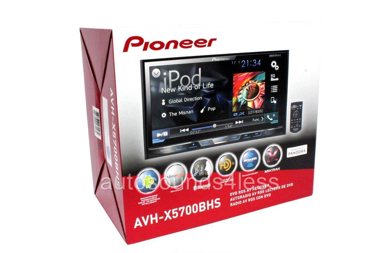 new pioneer avh x5700bhs indash double 2 din dvd player 7 lcd bluetooth hd radio ebay. Black Bedroom Furniture Sets. Home Design Ideas