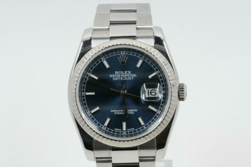 Rolex Datejust 116234 Factory Blue Index Dial 2010 Model