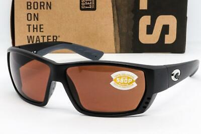 NEW COSTA DEL MAR TUNA ALLEY SUNGLASSES Black frame / Copper 580P Polarized (Costa Sunglasses Tuna Alley)