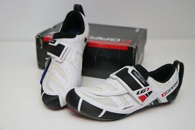 Louis Garneau Tri X-Speed Road Bike Shoes 46 11.5 12.5 White Triathlon 2/3-Bolt