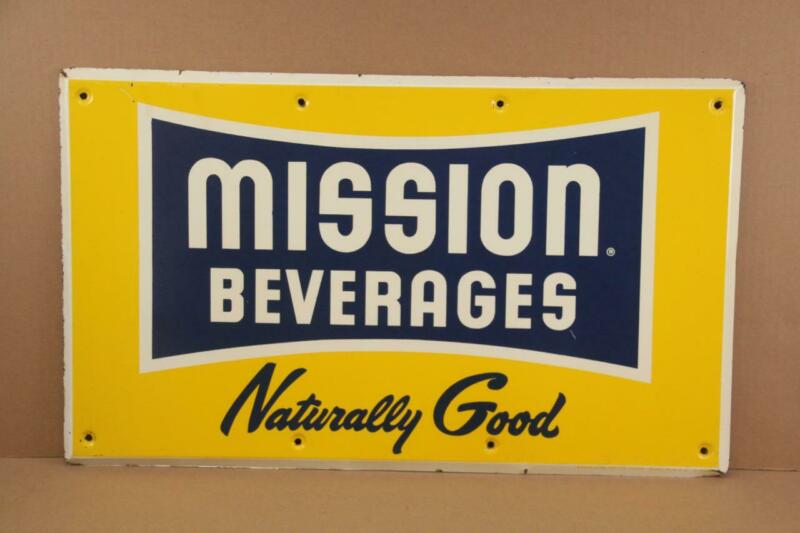 MISSION Beverages Advertising Sign