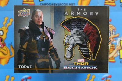 2018 UD MARVEL MOVIE THOR ARMORY MEMORABILIA COSTUME CARD AS-17 Topaz  Body Suit (Thor Suits)