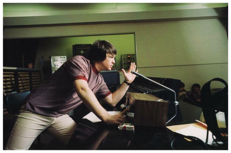 the Beach Boys - POSTER - Brian Wilson - EARLY recording studio Pic Wall Art