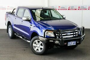 2014 Ford Ranger PX XLT 3.2 (4x4) Blue 6 Speed Automatic Double Cab Pick Up