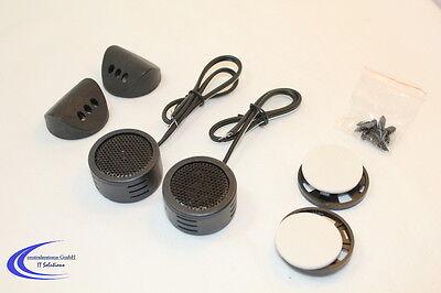 1 Paar Mini Hochtöner max. 120 Watt - KFZ Mini Tweeter Dome - Lautsprecher