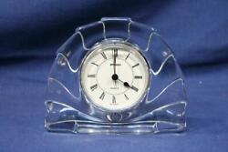 Vintage STAIGER Cut Crystal Arch Mantel Desk Clock – West Germany