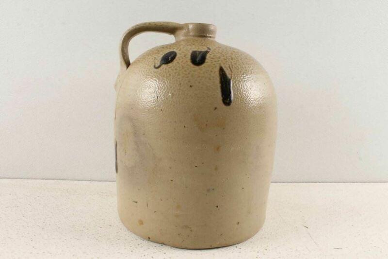 Antique Salt Glaze Turkey Dropping  Stoneware Crock Jug Minnesota Red Wing