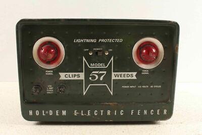 Vintage Holdem Model 57 Electric Fencer Farm Animal Electric Fence