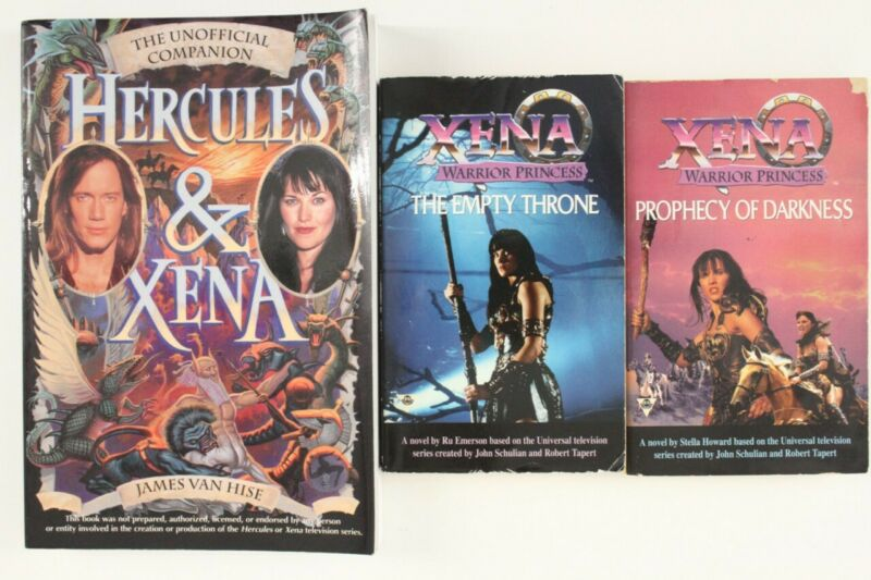 Hercules & XENA Warrior Princess TV Show Book Lot 3 Unofficial Companion