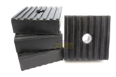 4 Medium Anti Vibration Isolation Pads Air Compressor Heavy Equipment 3x3x1